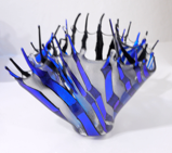 ANGELA BRADY ~ Ice Cold Splash - fused glass - €350