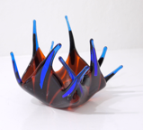 ANGELA BRADY ~ Midnight - fused glass - €160