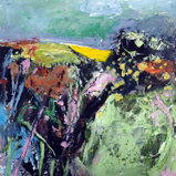 CATHERINE WELD ~ Spring Notes - oil on paper - 36 x 36 cm - €390
