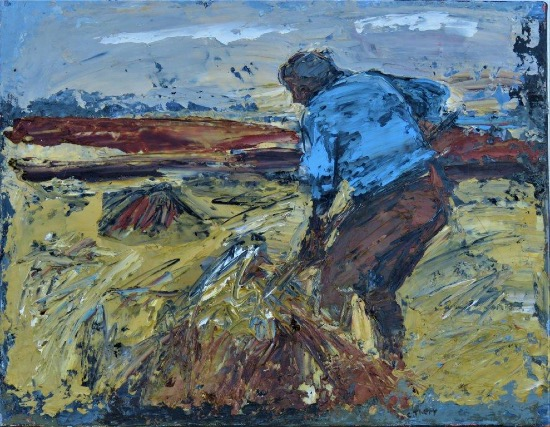 CHRISTINE THERY - Dance of the Haymaker - oil on canvas - 35 x 45 cm - €550 - SOLD