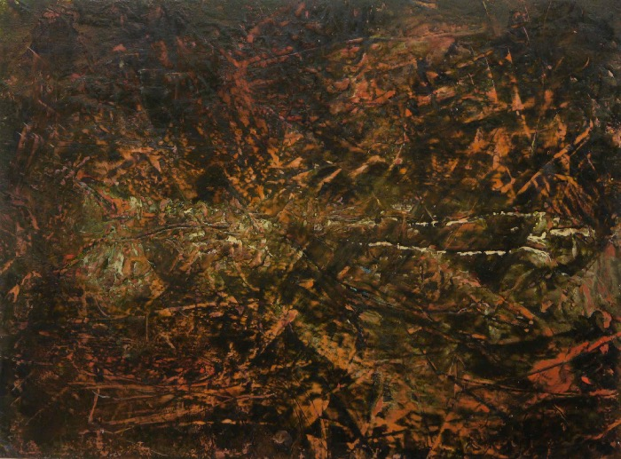 GANA ROBERTS - Landmark 1 - oil, cold wax & mixed media - 48 x 55 cm - €260