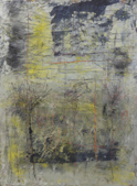 GANA ROBERTS - Sulphur Mountain 1 - oil, cold wax & mixed media - 56 x 47 cm - €260