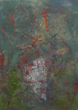 GANA ROBERTS ~ Chaos Map - oil & wax - 33 x 42 cm - €160