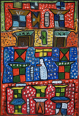 GORDON MOXLEY - Dream Home - acrylic - 66 x 45 cm - €500