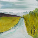 HELEN O'KEEFFE ~ The Road Home - oil on board - €270