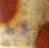 JUNE DURKIN - Burning - mixed media - 61 x 61 cm - €650