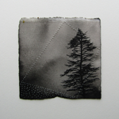 LAURA WADE - Aside 1 - ink & perforations on paper - 20 x 20  cm - €75