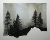 LAURA WADE - Setting 2 - ink & perforations on paper - 40 x 50 cm - €375