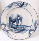 LEDA MAY ~ Elephant Plate - porcelain - €280